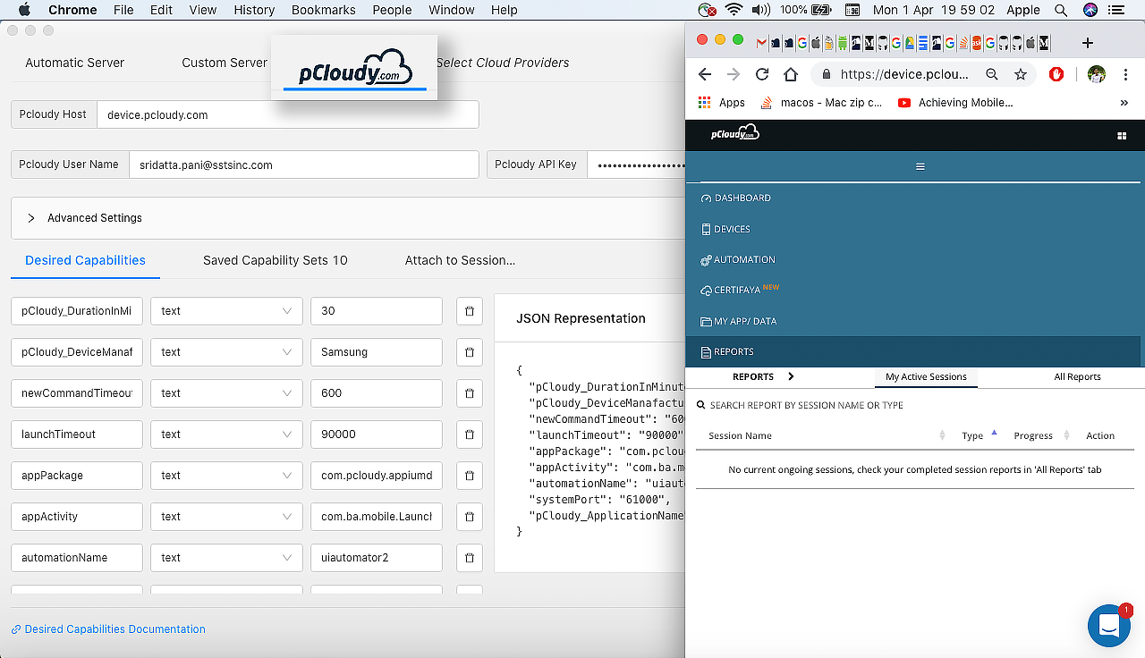 Inspect Element using Appium Desktop - pCloudy documentation