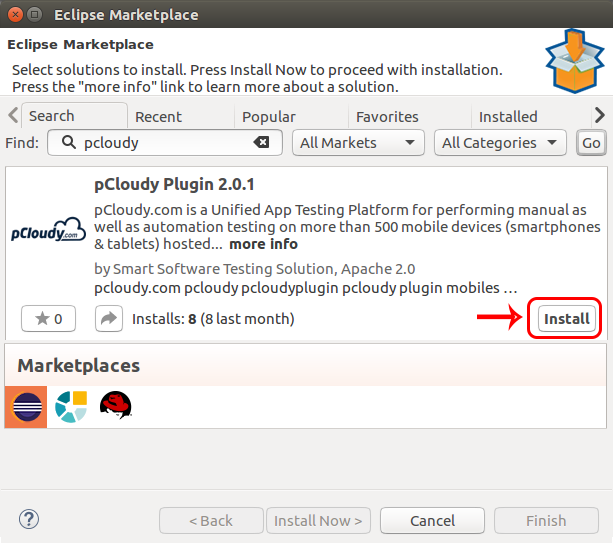 Eclipse Plug-in - pCloudy documentation
