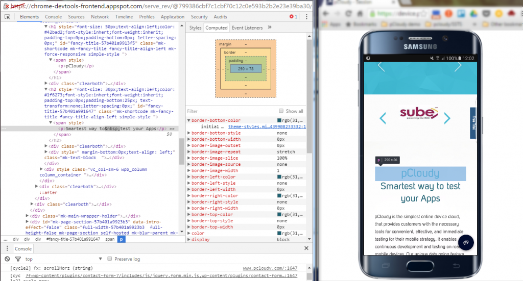 Chrome Developer Tools for Mobile Web Debugging on Real Devices