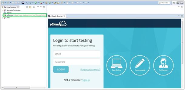login-to-start-testing
