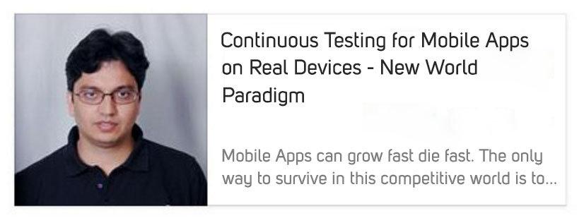 Continuous Testing Webinar by Avinash Tiwari