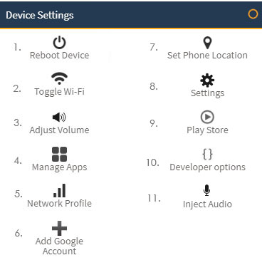mobile device settings