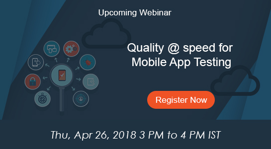 quality @ speed for mobile app testing