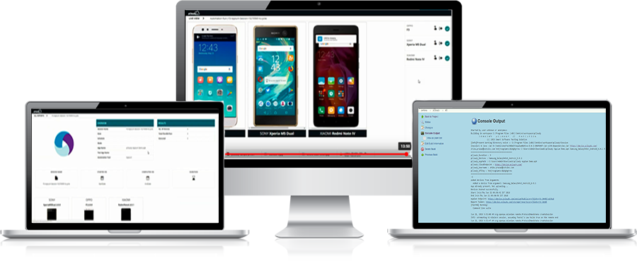 Run appium tests on android and ios
