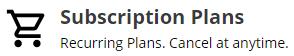 Recurring Plans