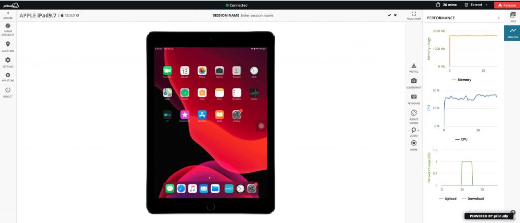 iPad pCloudy