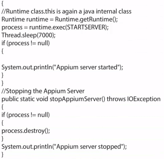 Appium server installation