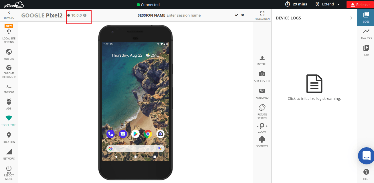 Google-Pixel-2 Android Q Beta Device