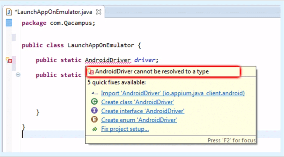 Test Automation Android Driver
