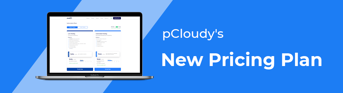 Summary of pCloudy's New Pricing Plan