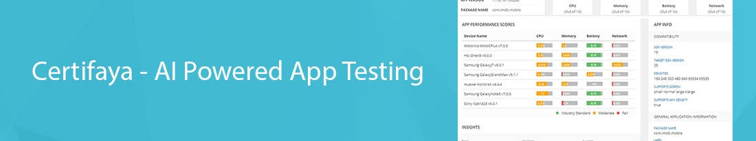 Certifaya – AI Powered App Testing