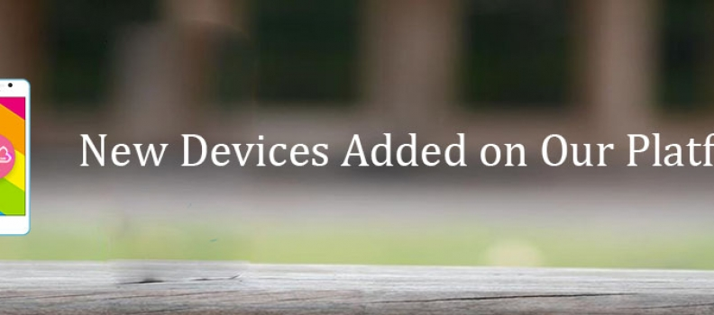 New Devices Added on Our Platform