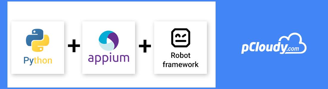 Python + Appium + Robot Framework