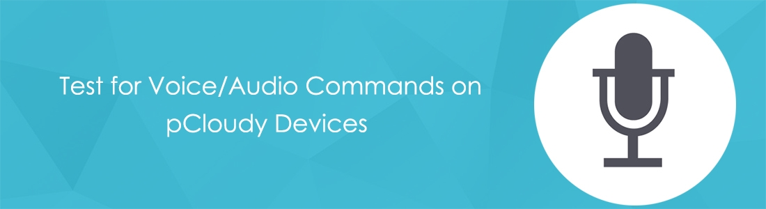 Test For Voice/Audio Commands on pCloudy Devices